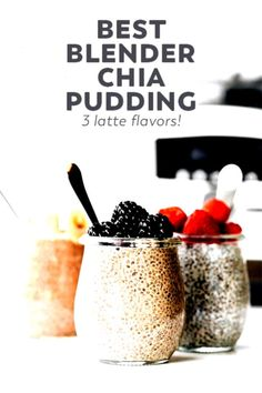 #quickhealthyfoodrecipes #glutenfree #breakfast #inspired #mealprep #perfect #pudding #blender #dessert #healthy #flavors #creamy #choose #recipe #aheadThe BEST ultra creamy chia seed pudding made in the blender with 3 latte inspired flavors to choose from – breakfast, dessert, or perfect prep ahead snack!The BEST ultra creamy chia seed pudding made in the blender with 3 latte inspired flavors to choose from – breakfast, dessert, or perfect prep ahead snack!  What has 10 ingredients, is... Latte Flavors, Best Blenders, Dessert Healthy, Breakfast Dessert, Chia Pudding, Chia Seeds, Glutenfree, Meal Prep, Healthy Recipes