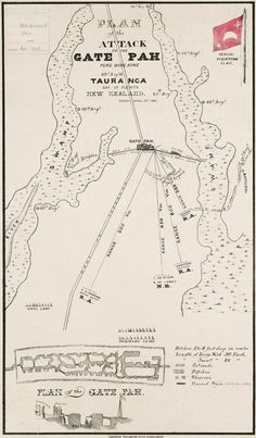 Map showing the disposition of the forces just before the attack on Pukehinahina (Gate Pā) on 29 April Nz History, History Online, Close Reading, Affirmation Quotes, Teaching Materials, New Zealand, Gate, Literature, Armies