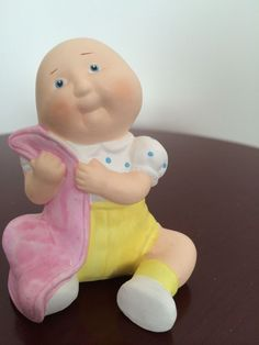 Vintage 1984 A. A. D. Inc. Cabbage Patch Kid with a Blanket Porcelain  Figurine