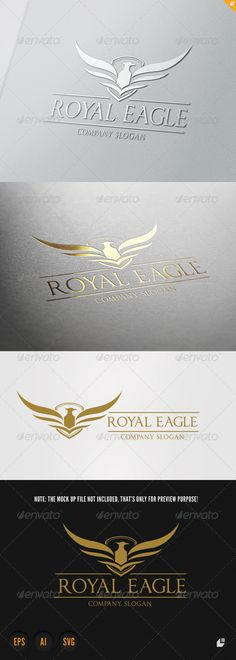 Royal Eagle V #GraphicRiver This logo design for all creative business. Consulting, Excellent logo,simple and unique concept. Logo Template Features