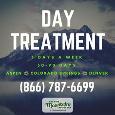 Shadow Mountain Recovery provides an excellent Day Treatment Program in Colorado Springs, Denver & Aspen, Colorado. Call (866) 787-6699 to learn more. ○○○ #Addiction #Recovery #AddictionRecovery #ShadowMountainRecovery #rehabilitation #detoxification #detox #rehab #Aspen #Cascade #ColoradoSprings #Denver #Colorado #Albuquerque #Taos #NewMexico #StGeorge #Utah #RecoveryIsPossible #RecoveryIsWorthIt #WeDoRecover #12Steps #12Step #Sober #Sobriety