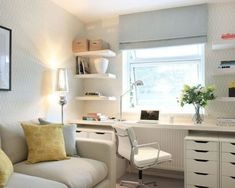Clever Storage Ideas For Your Spare Room - Forbes With the TV on the west wall, this would be perfect. Time to recycle the trundle! Home office, office decor, decor, Home Office design Cozy Home Office, Home Office Design, Home Office Decor, Home Decor, Office Ideas, Office Designs, Design Offices, Ikea Office, Office Sofa