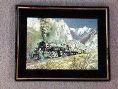 Railroad Locomotive Steam Train Painting Art FDL ART774   eBay