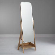 Ikornnes Floor Mirror Ash Floor Mirror Storage And
