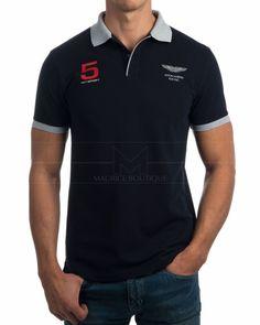 Polos Hackett - Amr Hkt Collr - Azul Marino Mens Polo T Shirts, Men's Polo, Aston Martin, Artworks, Men's Fashion, Polo Ralph Lauren, Textiles, Boys, Mens Tops