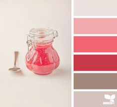 pink red gray