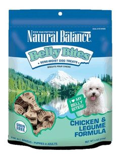 Natural Balance Belly Bites Semi-Moist Treats, 6-Ounce, Chicken and Legume -- Check out the image by visiting the link.