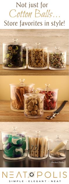 Our Premium Acrylic Apothecary Jars are perfectly elegant storage solutions for a multitude of applications. Durable and shatter-proof, the sky's the limit with what you can do with these jars. Apothecary Jars, Mason Jars, Hidden Litter Boxes, Pet Station, Storage Canisters, Laundry Room Organization, Plastic Storage, Treats, Crystals