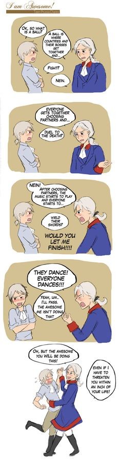 Prussia is one of the few that Old Fritz has lost his temper with.but he is determined to make Prussia a gentleman!and seems to enjoy dancing with. Prussia Hetalia, Hetalia Germany, Germany And Prussia, Hetalia Funny, Gilbert Beilschmidt, Naruto, Hetalia Axis Powers, Kaichou Wa Maid Sama, I Love Anime