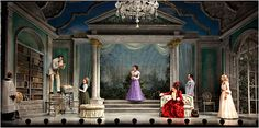 The Importance of Being Earnest. Roundabout Theatre Company production. Set and Costumes by Desmond Heeley.