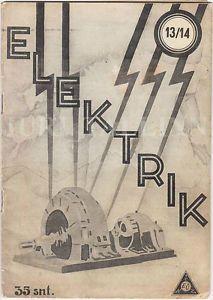 "AVANT-GARDE Cover Magazine ""ELEKTRIK"" No.13/14 August 1934 ESTONIA | eBay"