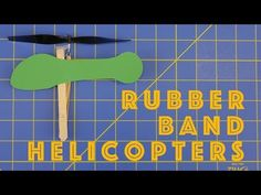 How to Make Rubber Band Helicopters - Engineering projects for kids - YouTube