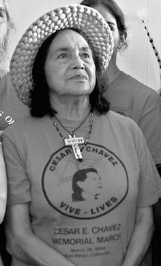 Dolores Huerta a noted American labor leader and civil rights activist who, along with César Chávez, co-founded the United Farm Workers (UFW). Huerta has received numerous awards for her community service and advocacy for workers', immigrants', and women's' rights, including the Eugene V. Debs Foundation Outstanding American Award and the United States Presidential Eleanor D. Roosevelt Human Rights Award.