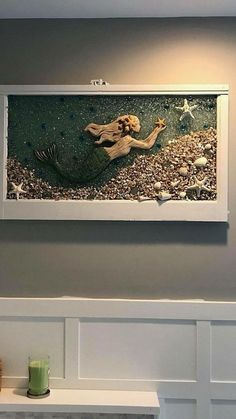 39 Popular Mermaid Bathroom Decor Ideas When many people choose to engage in beach house decor, the first rooms they often think of are the bedrooms … Seashell Bathroom Decor, Seashell Crafts, Bathroom Ideas, Bathroom Organization, Bath Ideas, Bathroom Renovations, Mermaid Crafts, Beach Crafts, Mermaid Art