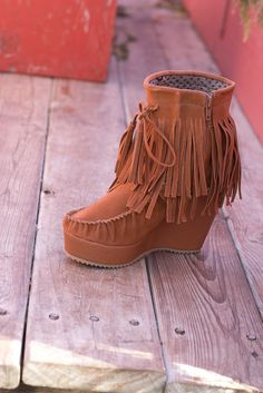 The Rustic Redhead Fringe Boot