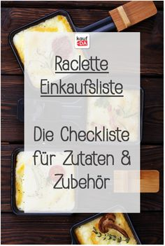 Discover the Raclette shopping list: Our checklist for ingredients and accessories . - Discover the Raclette shopping list: Our checklist for ingredients and accessories for a festive me - Snack Recipes, Dinner Recipes, Dessert Recipes, Snacks, Raclette Cheese, Party Buffet, Queso, Finger Foods, Carne