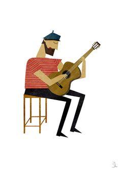 Guitarist print von blancucha auf Etsy