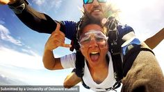 Junior, Joanna Lemons, studying business in Australia, takes a leap of fate… sky diving! #UDAbroad