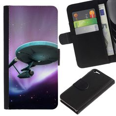 A-type (StarTrek Ship) Colorful Printing Holster Leather Wallet Case Pouch Skin Case Cover With Slots&pocket For Apple (4.7 inches!!!) iPhone 6 / 6S. Unique design allows easy access to all buttons. Fashionable & Perfectly Designed for a Snug Fit. Durable