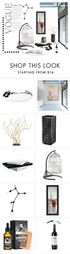 """""""Modern Decor"""" by ioakleaf on Polyvore featuring interior, interiors, interior design, home, home decor, interior decorating, WALL, Waterford, Universal Lighting and Decor and Mitchell Gold + Bob Williams"""