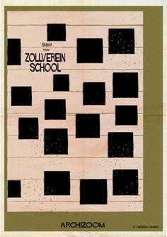 Federico Babina architecture poster - archizoom - Zollverein School