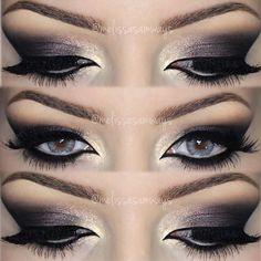 Hello my Loves  TUTORIAL  Dramatic Plum Make Up  Link in my BIO  Olá meus Amores  TUTORIAL  Dramatic Plum Make Up  Link na BIO  Contact Lenses Smokey Gray by ✨@desioeyes✨ Eyeshadow Chocolate Bar Palette ✨@toofaced✨ Glitter in the lips by ✨@motivescosmetics✨ Pigment - Gel Eyeliner ✨@alexapersicocosmetics✨  #makeupartist #mua #amazing #ilovemakeup #instamakeup #instabeauty #love #motivescosmetics #makeupaddict #eyeshadow #eyes #morphesbrushes  #alexapersicocosmetics #desioeyes