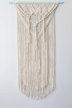 Hey, I found this really awesome Etsy listing at https://www.etsy.com/listing/468758035/large-macrame-wall-hanging-with-teal