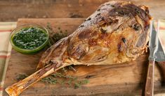 One of our fave dinner party hits.Roast Leg of Lamb Hereford, Easy Cooking, Cooking Recipes, Lamb Shank Recipe, Roast Lamb Leg, Mint Sauce, Good Food, Yummy Food, Cooking Together