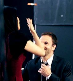 Johnny Lee Miller (Sherlock Holmes) and Lucy Liu (Joan Watson) from Elementary | Tumblr