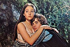 Olivia Hussey and Leonard Whiting in Franco Zeffirelli's 'Romeo and Juliet' (1968). If you were a teenage girl in '68, you saw this film.