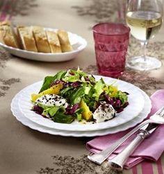 Das Rezept für Wintersalat mit Frischkäsenockerln und Orangen-Vinaigrette und weitere kostenlose Rezepte auf LECKER.de