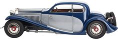 BRADY WARD POCHER K84 SCALE MODEL 1932 BUGATTI 50T COUPE DE VILLE Case dimension: 12 x 35-1/2 x 12 inches (30.5 x 90.2 x 30.5 cm) Brady Ward built Pocher K 86 1.8 scale model of the 1932 classic Bugatti, with many operational elements as expected in a Pocher model.