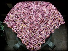This pattern is perfect for beginner crocheters and makes a lovely shawl. It is very easy to adapt to the size you would like to make and can be made out of just about and yarn you desire.