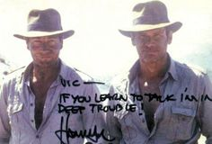 Vic, if you learn to talk i'm in deep trouble! - Harrison Ford