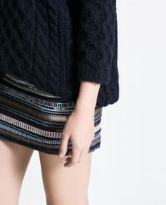 EMBROIDERED SKIRT from Zara