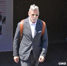 Nick Wooster, Most Stylish Men, Stylish Man, Suit Fashion, Mens Fashion, Bohemia Style, Lady And Gentlemen, Bad Boys, Mens Suits