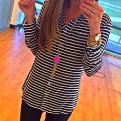 If you know me, you know I love me some stripes and am a sucker for a lightweight button up comfy shirt