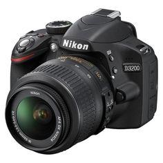 Nikon D3200 24.2MP Digital SLR Camera with 18-55mm VR Lens  Black (25492)