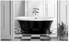 Aquatic Serenity 37 Clawfoot Tub shown with Freestanding Water Supply-lines and Vintage Style Clawfoot Tub Faucet