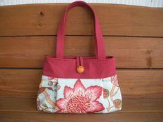 Fabric Handbag / Purse / Small Reversible by creationsbyellyn, $28.50