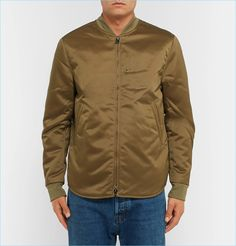 Acne Studios Mylon Matt Satin Bomber Jacket