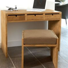 http://www.vivalagoon.com/719-4424-thickbox_default/desk-and-seat.jpg #homeoffice #interiordesign #desks