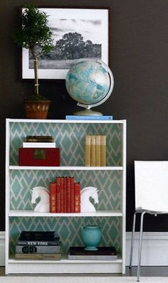 Beautiful 36 Brilliant Ways To Beautify Boring Bookshelves  Brit  Co