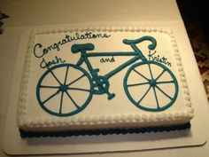 Bicycle themed Groom's Cake in Groom's Cakes & Wedding Favors by Celebrations by Lori Lori Horton