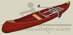 The RowSurfer is perfectly suitable to be used in canoes, including the popular so-called Canadian canoes. Because of the versatile mounting options, the RowSurfer can easily be mounted in virtually any type of canoe.