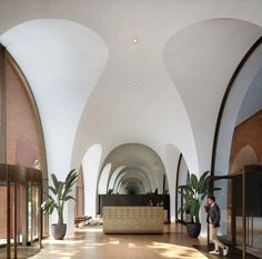 Alison Brooks Architects unveils brick archways for Cadence in London London Architecture, Interior Architecture, Interior Design, Commercial Architecture, Architecture Panel, Ancient Architecture, Sustainable Architecture, Alison Brooks, Facades