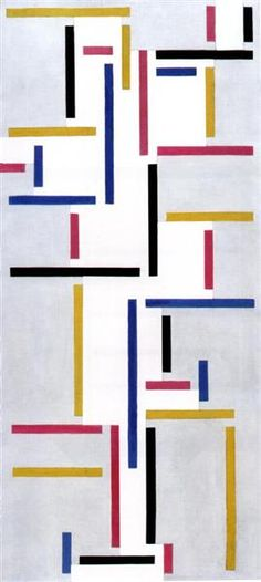 Russian Dance, 1918 by Theo van Doesburg. Neoplasticism. abstract. Museum of Modern Art (MoMA), New York City, NY, US