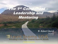 The 1st component - Leadership and Mentoring