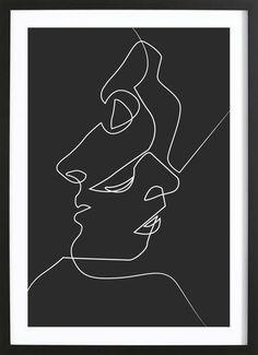 Art Blanc, Pics Art, Painting & Drawing, Painting Canvas, Wall Drawing, Drawing Faces, Face Line Drawing, House Painting, Modern Art