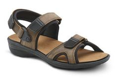 Comfort Men's Greg Brown Sandals: The Dr. Comfort Greg Sandals features a removable back strap to convert to a slide. All styles have removable footbeds for custom orthotics. Orthopedic Shoes, Brown Sandals, Men's Sandals, Mens Fashion Shoes, Cow Leather, Business Casual, Black And Brown, Running Shoes, Athletic Shoes